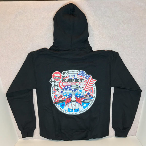 Seebold-Racing-NGK F1 Powerboat Championship-Black-Hoodie-Back